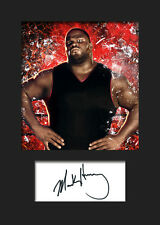 MARK HENRY #1 (WWE) Signed (Reprint) Photo A5 Mounted Print - FREE DELIVERY