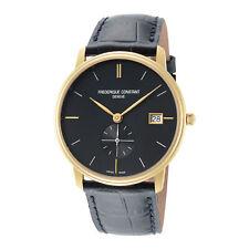 Frederique Constant FC-245N4S5 Slimline Men's 37mm Quartz Blue Dial Watch