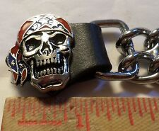 Skull vest extension motorcycle biker clothing accessory extender made USA