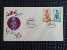 RIO MUNI FDC 1963 AYUDA A SEVILLA FOLKART VOLKSKUNST ART c4133