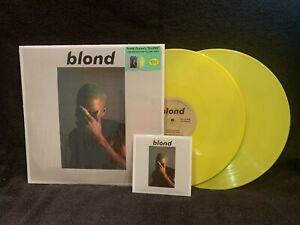 SEALED Frank Ocean 2LP Blond RARE Yellow Vinyl with CD NEW B01KRKL6R8