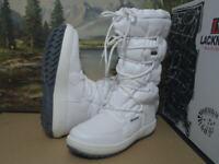 Lackner Stiefel Stiefeletten Boots Damen Winterschuhe weiß Gr.41 7654  Neu7