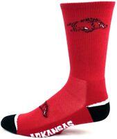 Arkansas Razorbacks NCAA Red Black Crew Socks