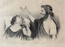 Honore Daumier France 1808-1879 Lithograph Physionomies Tragico-Classiques No 13
