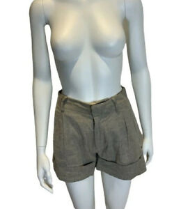 Catherine Malandrino Short Shorts Linen Blend Shorts Size US 0 UK 4 XXS