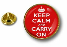 spilla pin pin's spille spilletta giacca badge keep calm and carry on