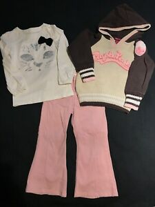 Lot of 3 BABY GAP H&M Kids Girls Outfit Sweater & Pants & Blouse Size 4/5