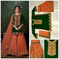 Indian anarkali salwar kameez suit bollywood pakistani designer plazo 5