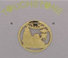 Shih Tzu Jewelry Small Gold Pin by Touchstone