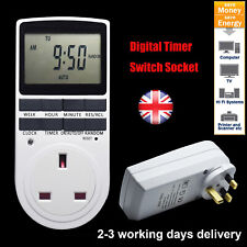 UK Plug Programmable Digital Timer Switch Socket AC Electric Power Time switch