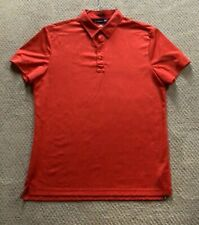 J.Lindeberg Red Lightweight Polo Shirt Men's Regular Fit Large