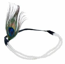 Peacock Feather Flapper Headband 1920s Great Gatsby Headdress Vintage