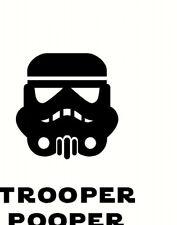 starwars storm trooper style funny Toilet Seat Sticker Vinyl Decal wall door uk
