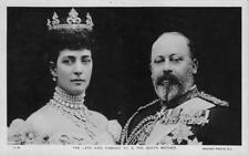 RPPC King Edward VII & The Queen Mother England Royalty c1910s Vintage Postcard