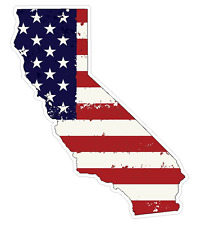 California State (J7) USA Flag Distressed Vinyl Decal Sticker Car/Truck Laptop