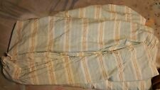"Pottery Barn ""Mint Green W/Tan Stripes"" King/Cal.King Duvet"