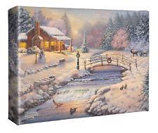 Thomas Kinkade Studios Christmas at the Cabin 10 x 14 Wrapped Canvas