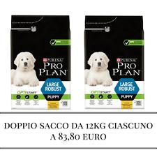 cibo per cuccioli  di cane, Large Robust due sacchi da 12 kg ciascuno, Purina Pr