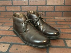 Florsheim Chukka Boots Brown Leather   Handmade In Italy   Size 10