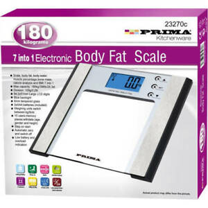7 IN 1 180KG BATHROOM SCALE WEIGHING BODY FAT WEIGHT ELECTRONIC HOME LOSE DIAL