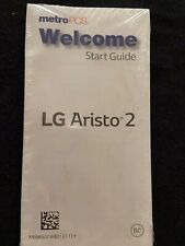Metro Pcs LG Aristo 2 Welcome Start Guide Book NO PHONE!!!!