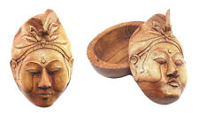 Hand Carved Balinese Mask Box, 17cm ..... jewellery/trinket box