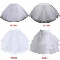 3 Layers Girls Slip Flower Girl Petticoat Crinoline Hoopless Skirt Underskirt