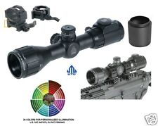 """Compact Rifle Scope UTG Leapers 3-9X32 Bug Buster w/Picatinny Rings 2"""" Sunshade"""