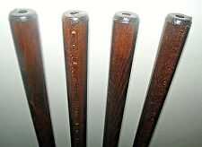 Dark Brown Shaft for Walking Stick Making Beech Wood Parts Accessories Canes x 1