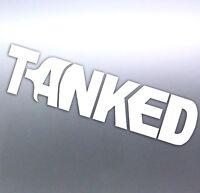 Large TANKED Scuba Diver Tank Vinyl cut Car, Boat Sticker aussie made 420mm long