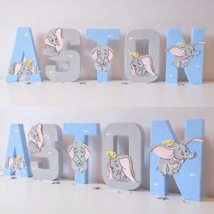 Dumbo Letters names Baby Nursery Wall Art Decor Children's Gift boy girls letter