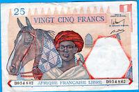 AFRIQUE FRANCAISE LIBRE 25 FRANCS  TTB