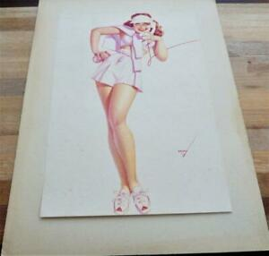 GEORGE PETTY PIN-UP ARTIST 1940'S ORIGINAL PRINT