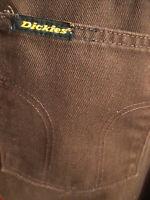 30x28 Fit True Vtg 70s Dickies Denim Brown Hippy Jeans Pants USA