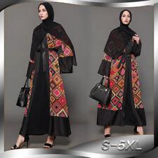 Women Print Robe Open Dress Dubai Muslim Abaya Turkish Plus Size Cardigan Kimono