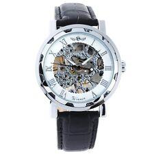 MA Winner - Herrenuhr - Automatik Uhr - Leder armbanduhr -weiß Silber