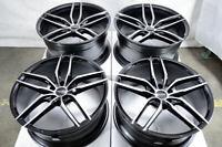 "20"" Staggered Wheels Mercedes GL350 ML350 R350 SL550 C230 C280 Black 5x112 Rims"