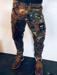 G-Star * Cargo-Hose  * Größe 35/34 Rovic 3 D Straight Tapered, Camouflage, Neu