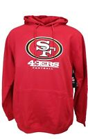 San Francisco 49ers Red Majestic NFL Pullover Hoodie, Mens Size Big and Tall nwt