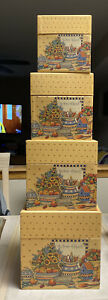 Bob's Boxes Lot of 4 Heart & Home Square Nesting Boxes by R A Lang Company