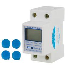 Set 220V 5(80)A Contatore Elettrico Su Guida DIN Misuratore Di Energia KWh Meter