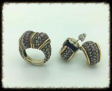 Handmade Knot Silver Gold  Ring & Earrings Set, Love Inspired