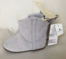 Baby Gap Girls Suede Leather Pull-On Boots 6-12 Months New With Tags BabyGap