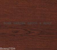 Dark Red Wood Grain Cherry Vinyl Contact Paper Shelf Drawer Liner Peel Stick