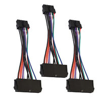 3Pcs 24Pin to 12Pin Power Supply PSU ATX Motherboard Adapter Cable for Acer