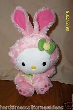 TY SANRIO HELLO KITTY IN PINK BUNNY RABBIT OUTFIT COSTUME PLUSH BEANIE 8""