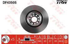 TRW Disco de freno (x2) Antes 345mm ventilado SEAT LEON VOLKSWAGEN GOLF DF4350S