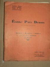 Catalogue Outillage PAUL DUBOIS  1930   outil garage  auto brochure propectus