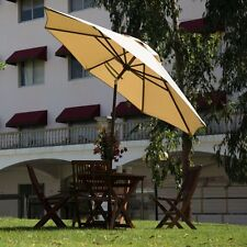 11FT Patio Umbrella Outdoor Market Umbrella with Push Button Tilt & Crank,8 Ribs