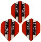 Ruthless Extra Strong Dart Flights - Red Transparent